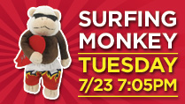 SURFING RALLY MONKEY PLUSH